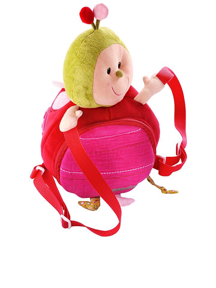 """Lilliputiens Rucksack """"Coccinelle"""" in Pink - (B)25 x (H)35 x (T)20 cm"""