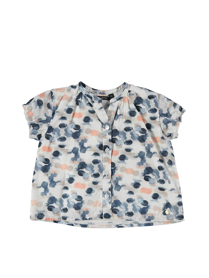 Marc O'Polo Junior Bluse in Creme/ Blau