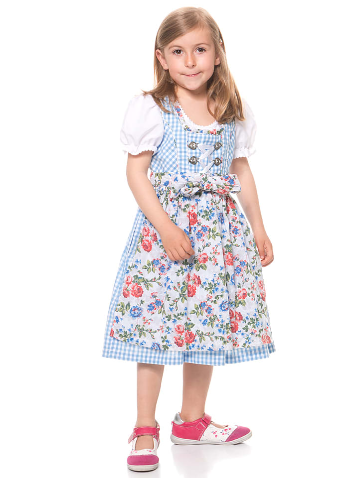 lekra dirndl mit bluse jule in hellblau wei bunt limango outlet. Black Bedroom Furniture Sets. Home Design Ideas