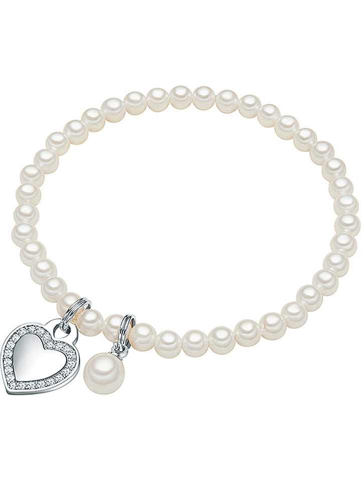 perldesse perlen armband mit anh ngern in wei limango. Black Bedroom Furniture Sets. Home Design Ideas