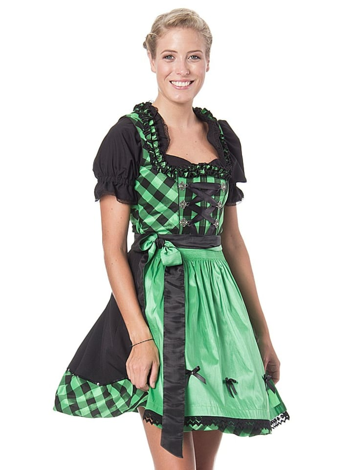 lekra mini dirndl in gr n schwarz limango outlet. Black Bedroom Furniture Sets. Home Design Ideas