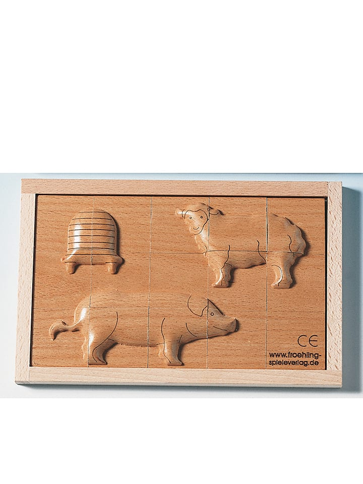"Beleduc Wypukłe puzzle ""Sheep and pig"""