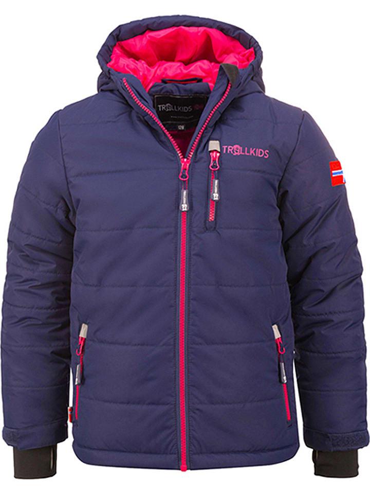 "Trollkids Ski-/snowboardjas ""Hemsedal"" donkerblauw/roze"