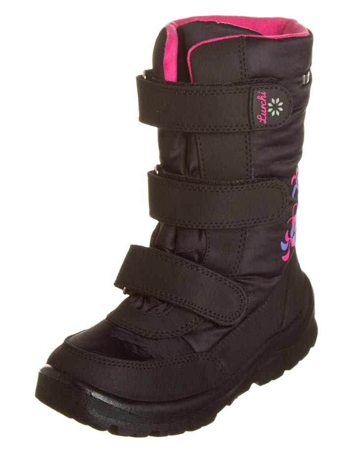 "Lurchi Winterlaarzen ""Kissi-Tex"" zwart/roze"
