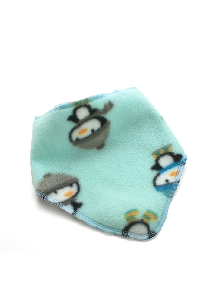 """Kleine Könige Sjaal """"Pinguïn"""" turquoise - (B)27 x (L)38 cm"""
