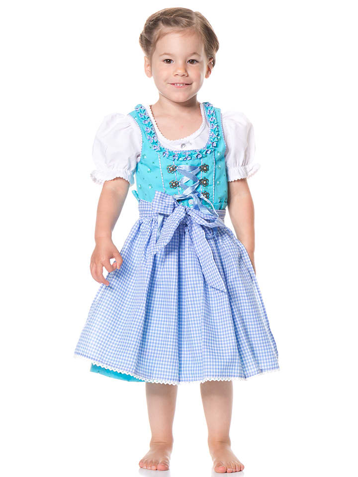 lekra dirndl mit bluse linda in t rkis hellblau limango outlet. Black Bedroom Furniture Sets. Home Design Ideas