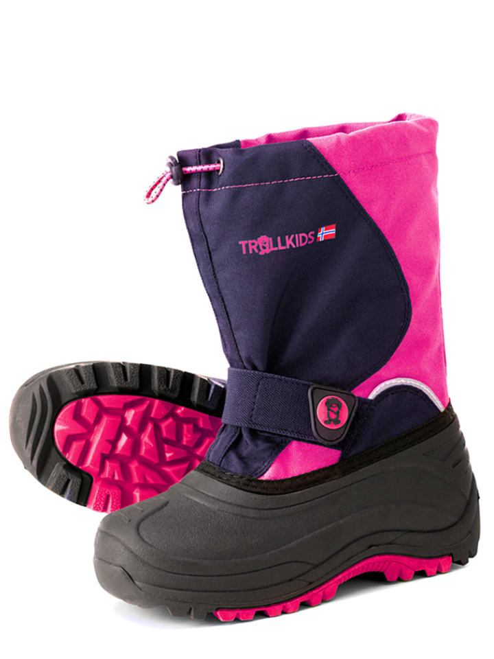 "Trollkids Boots ""Telemark Winter"" roze/donkerblauw"