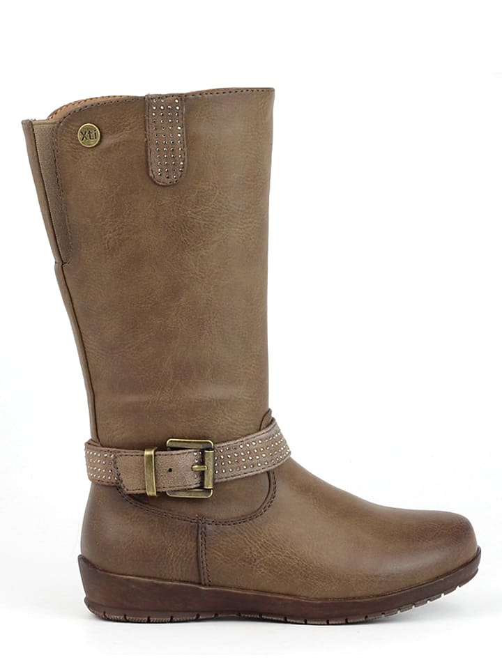 Xti Stiefel in Taupe