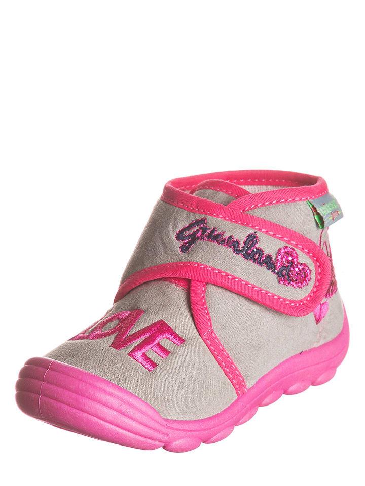 """Grünland Pantoffels """"Dado"""" roze/grijs"""