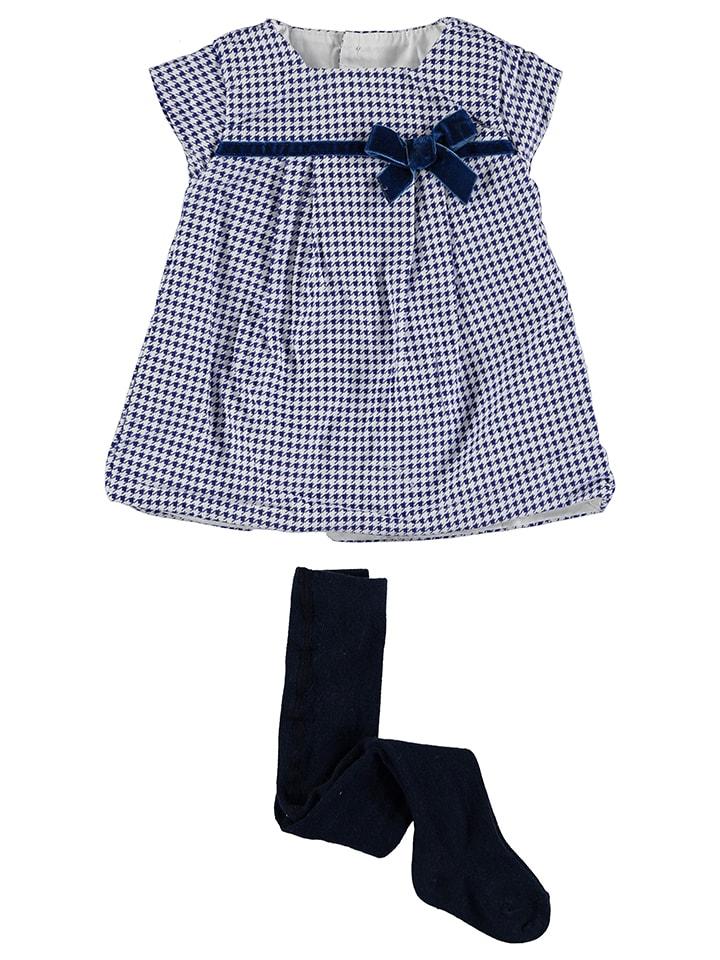 """Cotton&Sugar 2tlg. Outfit """"Leotardo"""" in Weiß/ Blau"""