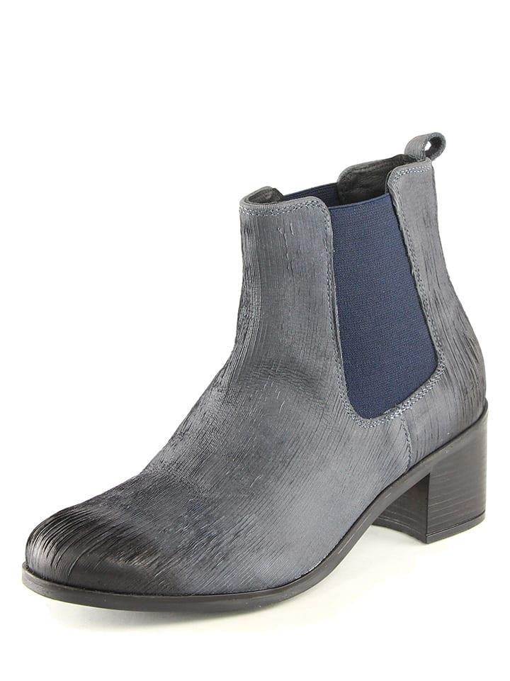 karakool leder chelsea boots in dunkelblau limango outlet. Black Bedroom Furniture Sets. Home Design Ideas