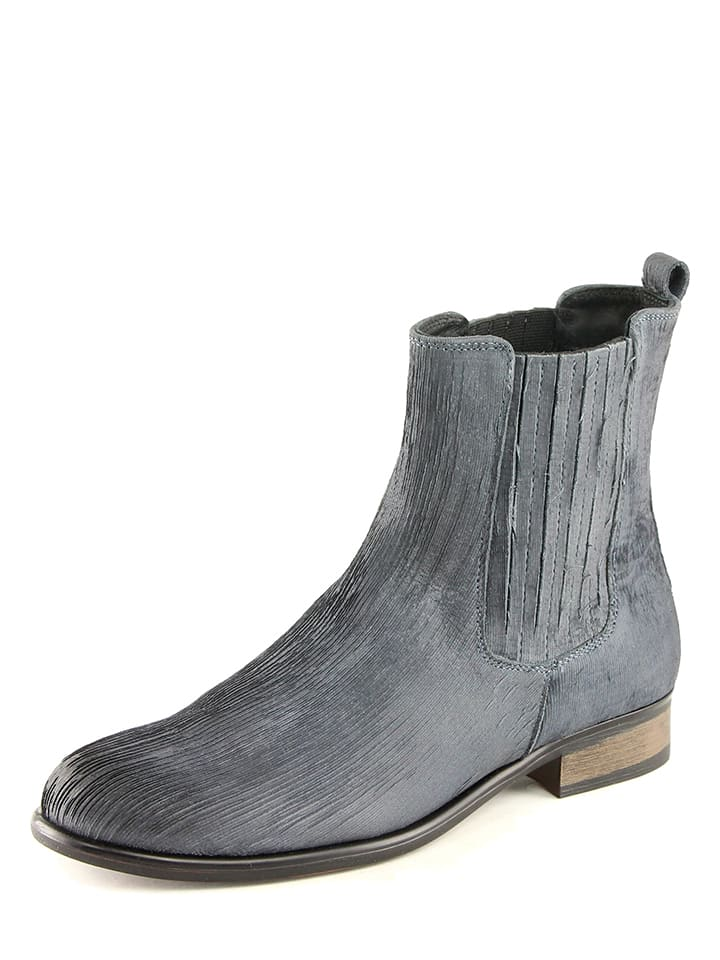 karakool leder chelsea boots in blau limango outlet. Black Bedroom Furniture Sets. Home Design Ideas