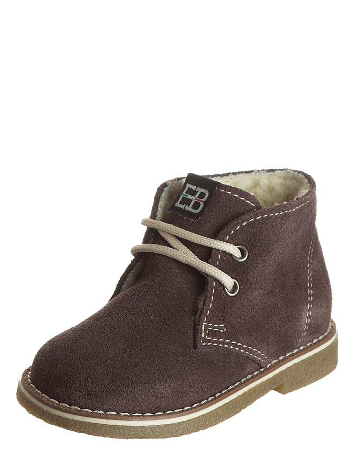 EB Shoes Leder-Schnürschuhe in Braun