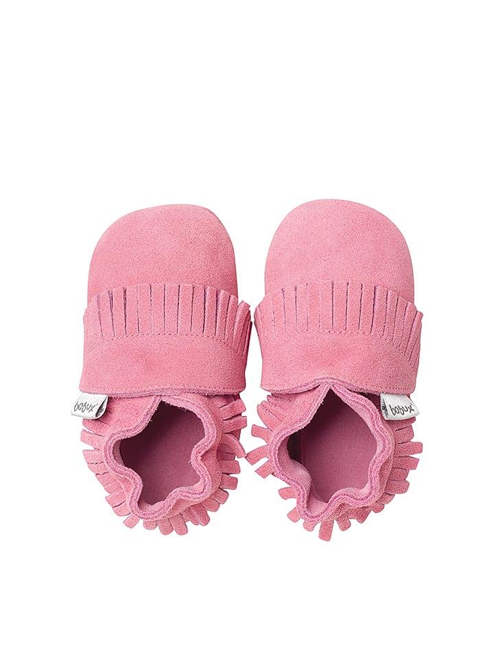 Bobux Leren kruipschoenen roze