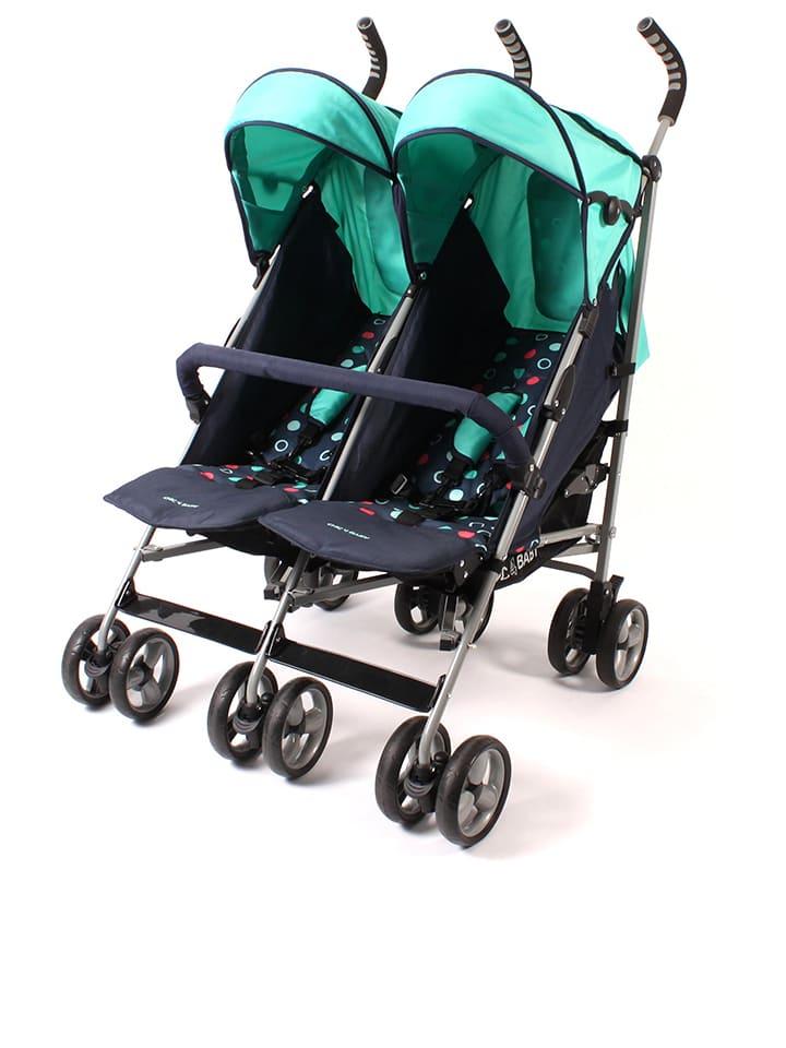 """Chic4Baby Duo-kinderwagen """"Moma"""" zwart/turquoise"""