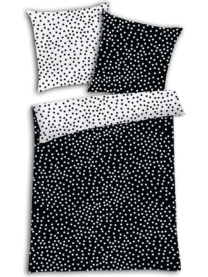 schiesser renforc bettw sche set konfetti in schwarz wei limango outlet. Black Bedroom Furniture Sets. Home Design Ideas