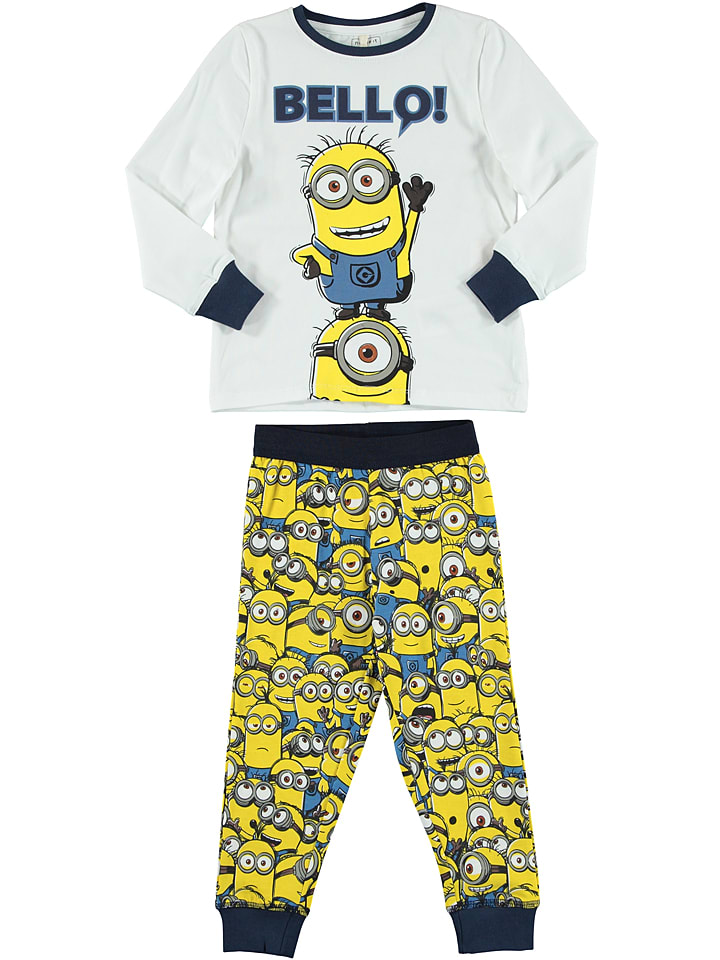 name it pyjama minions balzo blanc jaune outlet limango. Black Bedroom Furniture Sets. Home Design Ideas