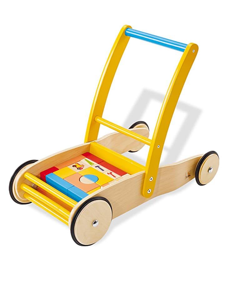 """Pinolino Loopleerwagen """"Bodo met bouwblokken"""" - vanaf 12 maanden"""