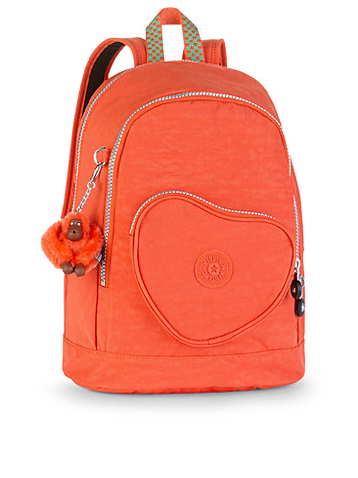 "Kipling Rucksack ""Heart"" in Orange - (B)24 x (H)31,5 cm"