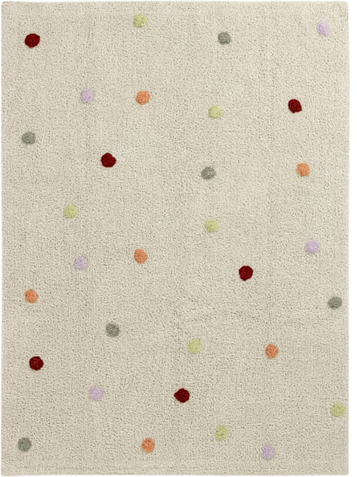 happy decor kids baumwoll teppich dots in beige bunt. Black Bedroom Furniture Sets. Home Design Ideas