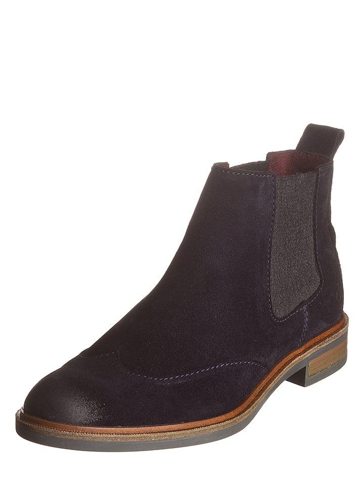 marc o 39 polo shoes leder chelsea boots in dunkelblau. Black Bedroom Furniture Sets. Home Design Ideas