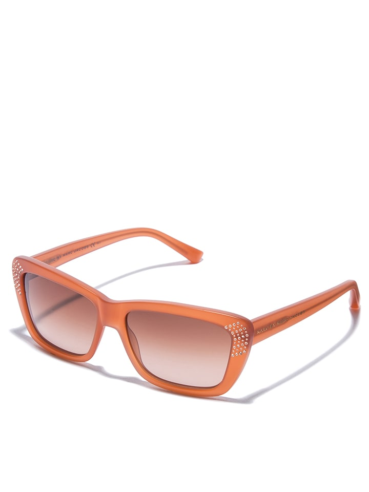 marc by marc jacobs damen sonnenbrille in orange taupe. Black Bedroom Furniture Sets. Home Design Ideas