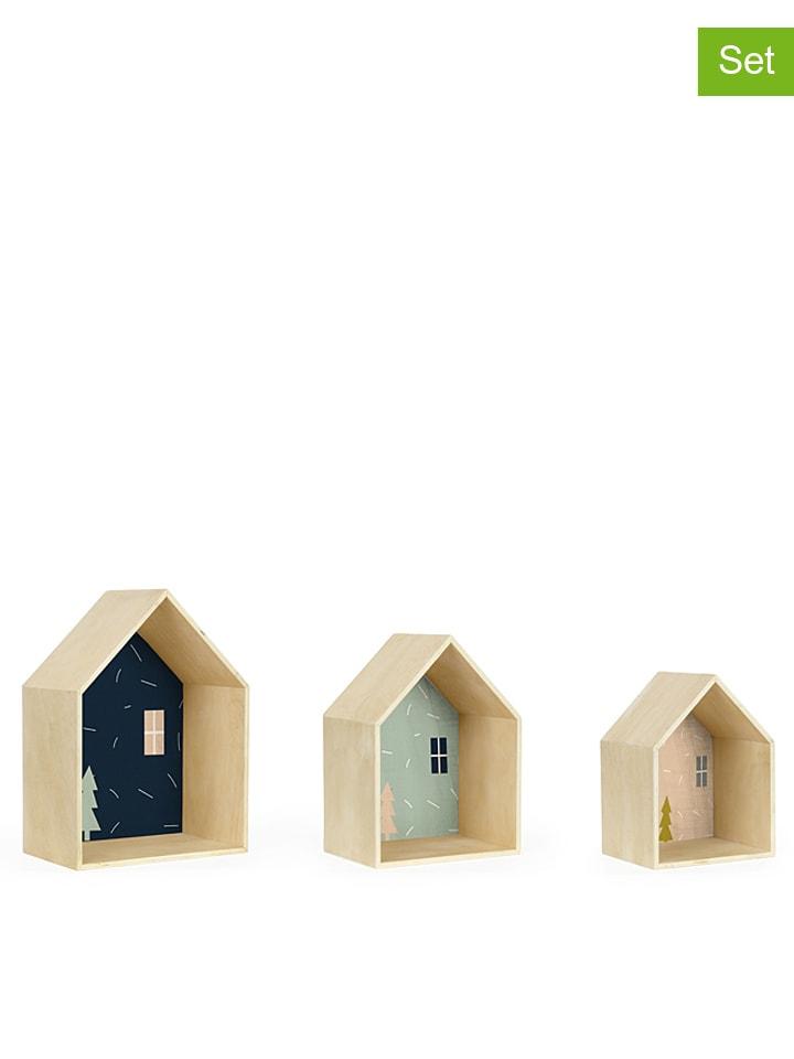 the wild hug 3er set wandregale navy in natur bunt. Black Bedroom Furniture Sets. Home Design Ideas