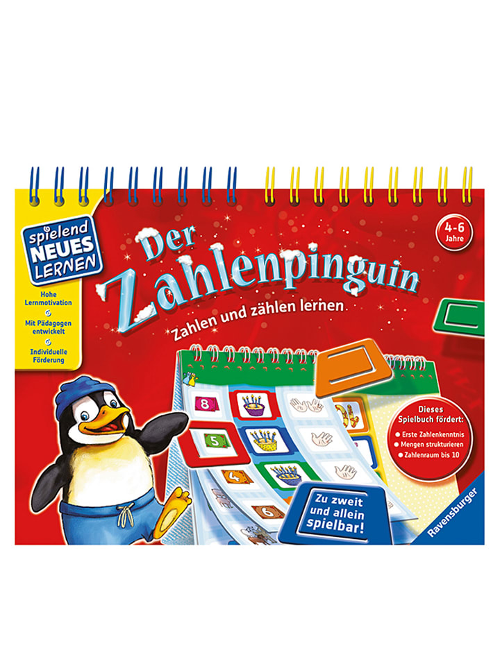 ravensburger lern spiel buch der zahlenpinguin ab 4. Black Bedroom Furniture Sets. Home Design Ideas