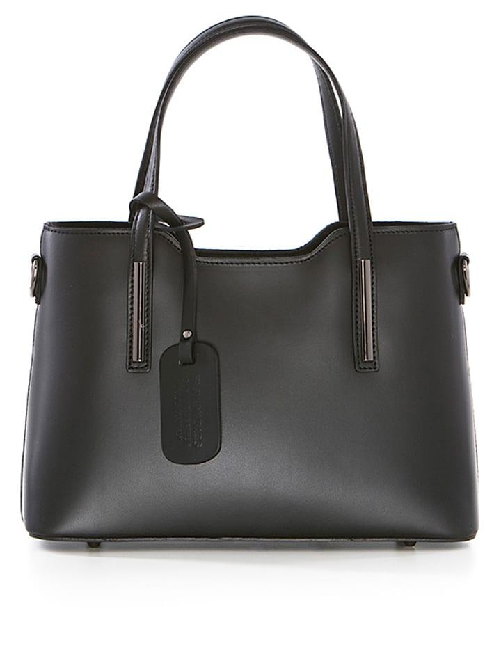 pia sassi leder henkeltasche in schwarz b 30 x h 22 x t 12 cm limango outlet. Black Bedroom Furniture Sets. Home Design Ideas
