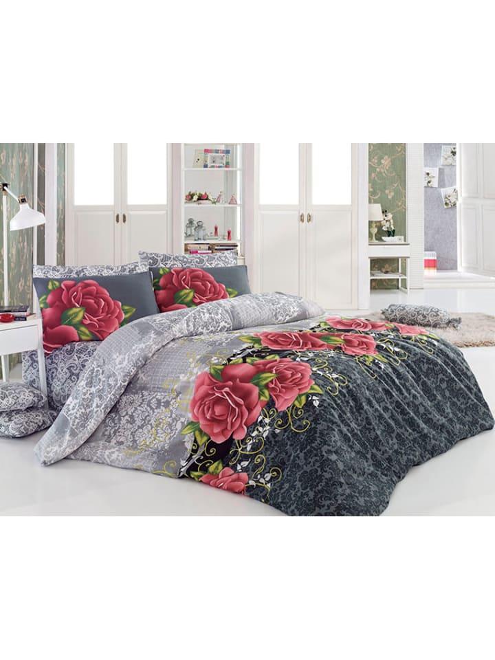 bed time stories renforc bettw sche set in grau. Black Bedroom Furniture Sets. Home Design Ideas