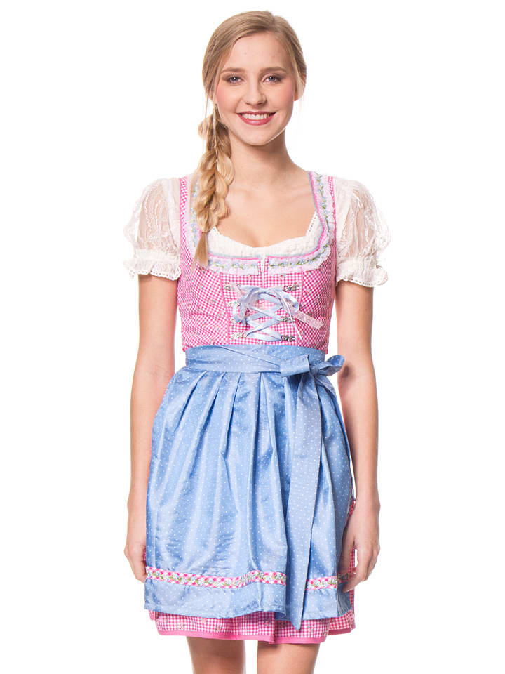 stockerpoint mini dirndl naomi in pink hellblau. Black Bedroom Furniture Sets. Home Design Ideas
