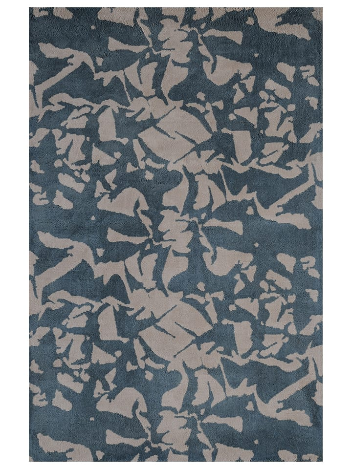 Toulemonde bochart katoenen tapijt kraft blauw beige limango outlet - Tapijt toulemonde bochar t balances ...