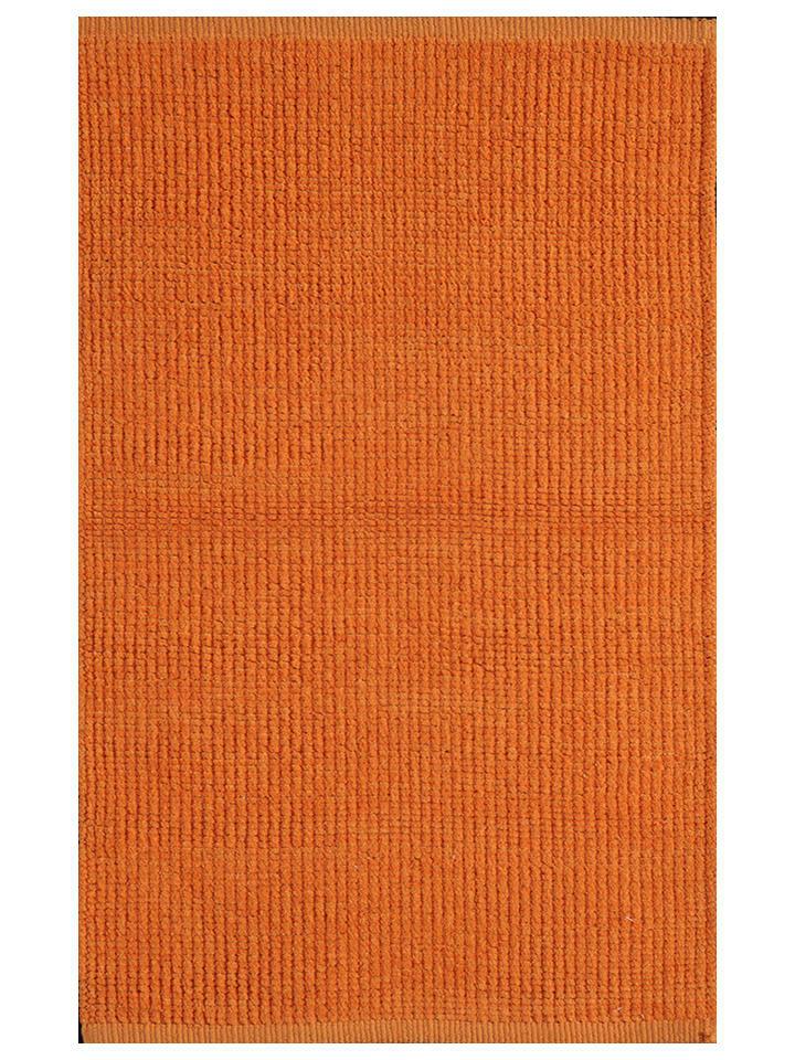Toulemonde bochart katoenen tapijt trendy oranje limango outlet - Tapijt toulemonde bochar t balances ...