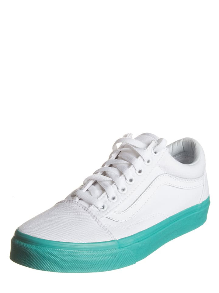 vans sneakers old skool blanc turquoise outlet limango. Black Bedroom Furniture Sets. Home Design Ideas