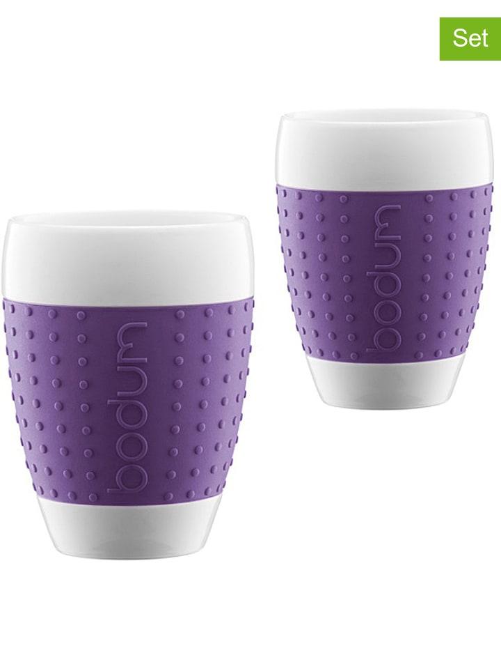 """Bodum Kubki (2 szt.) """"Pavina"""" w kolorze fioletowym - 400 ml"""