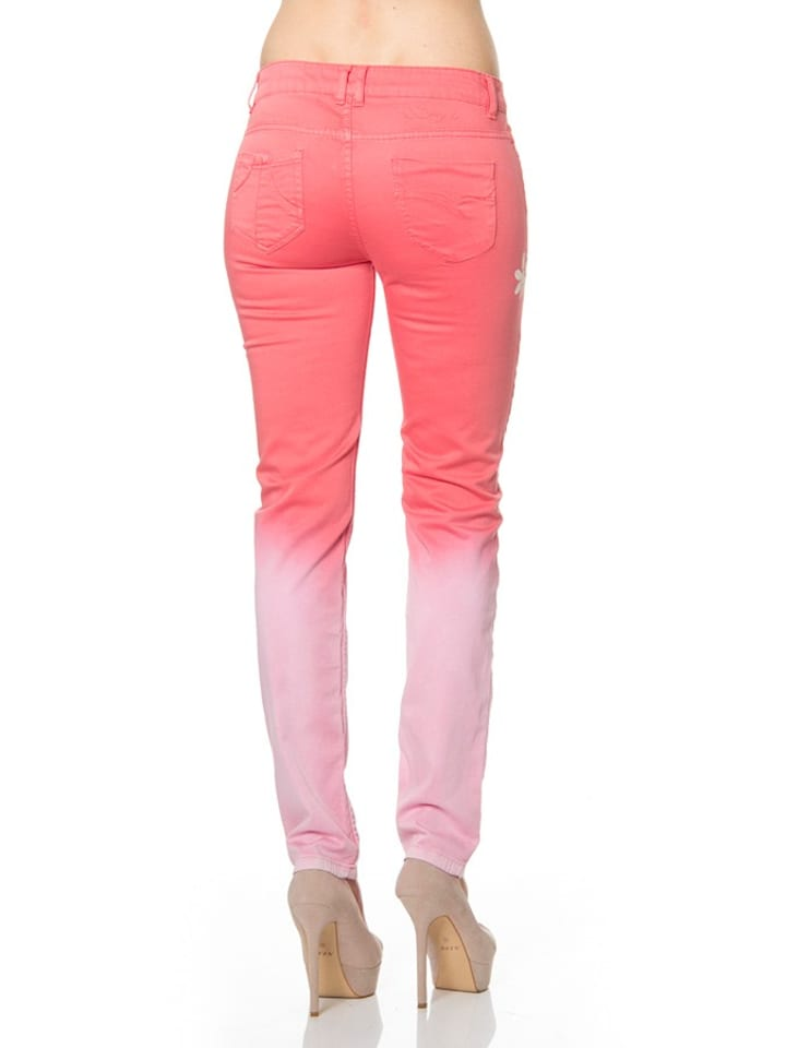 "Desigual Jeans ""Rojo"" in Koralle/ Weiß"