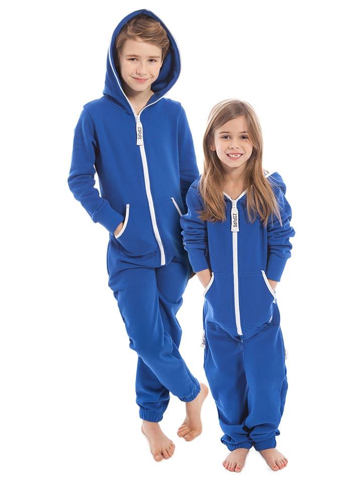 """ZipUps Kombinezon """"Clean Cut Kids"""" w kolorze niebieskim"""