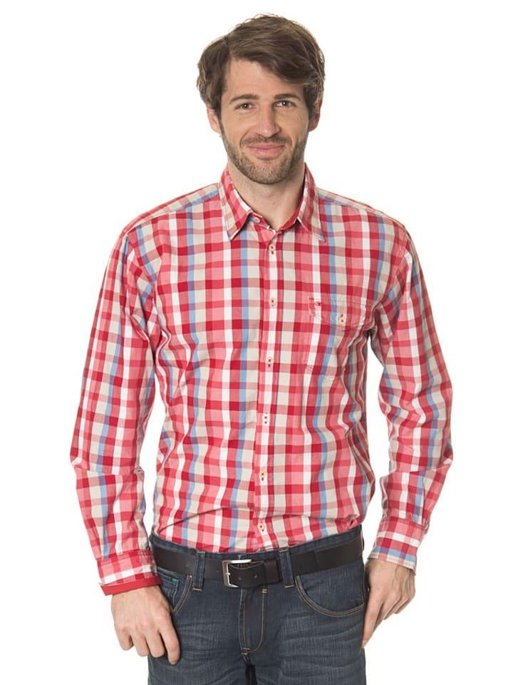Tom Tailor Blouse met lange mouwen rood/blauw/wit