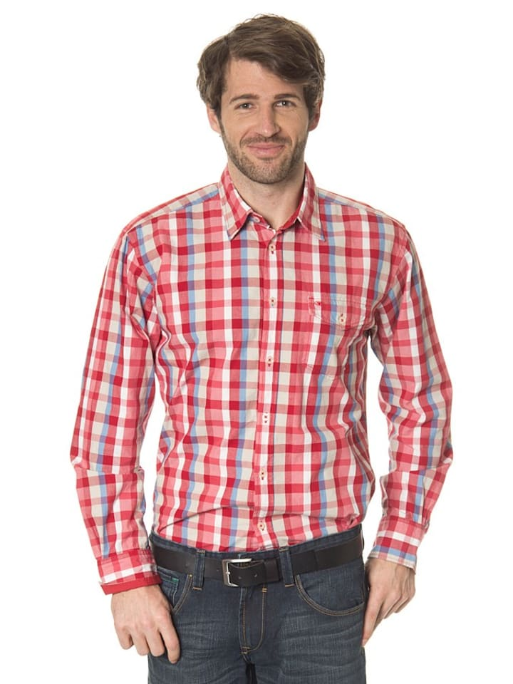 Tom Tailor Hemd in Rot/ Weiß