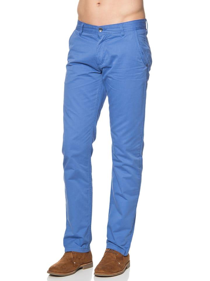 Mexx Spodnie chino w kolorze niebieskim