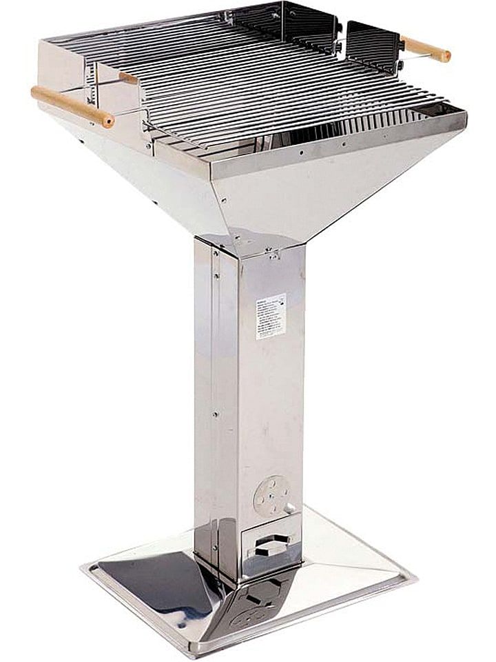 Grillchef Holzkohle-Trichtergrill in Chrom - (B)66 x (H)96 x (T)51 cm