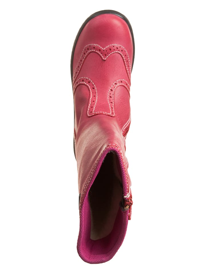 Naturino Leder-Stiefel Meja in Pink