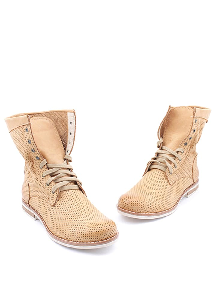 Zapato Leder-Boots in Sand