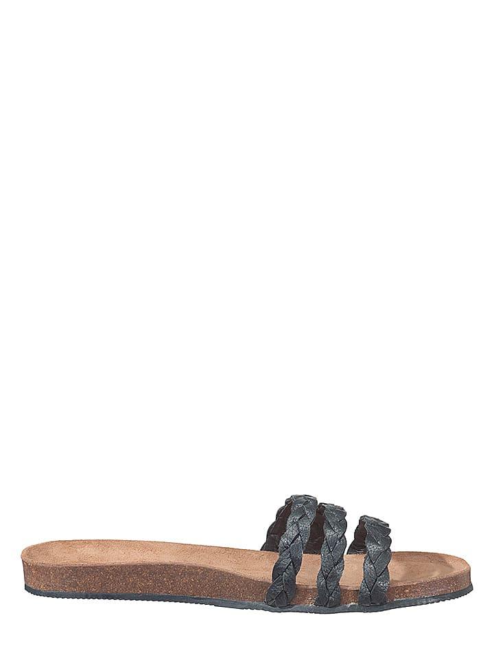 Flip Flop Sandale mit bequemem Fußbett in dunkelblau