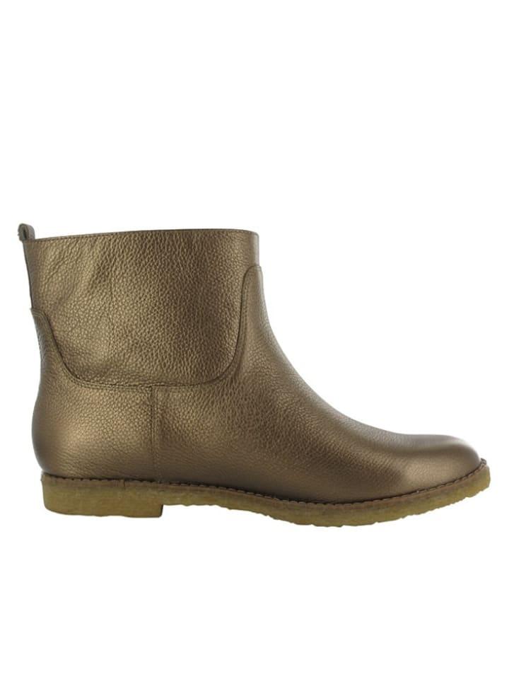 """Flip Flop Leder-Boots """"Caballo"""" in Gold"""
