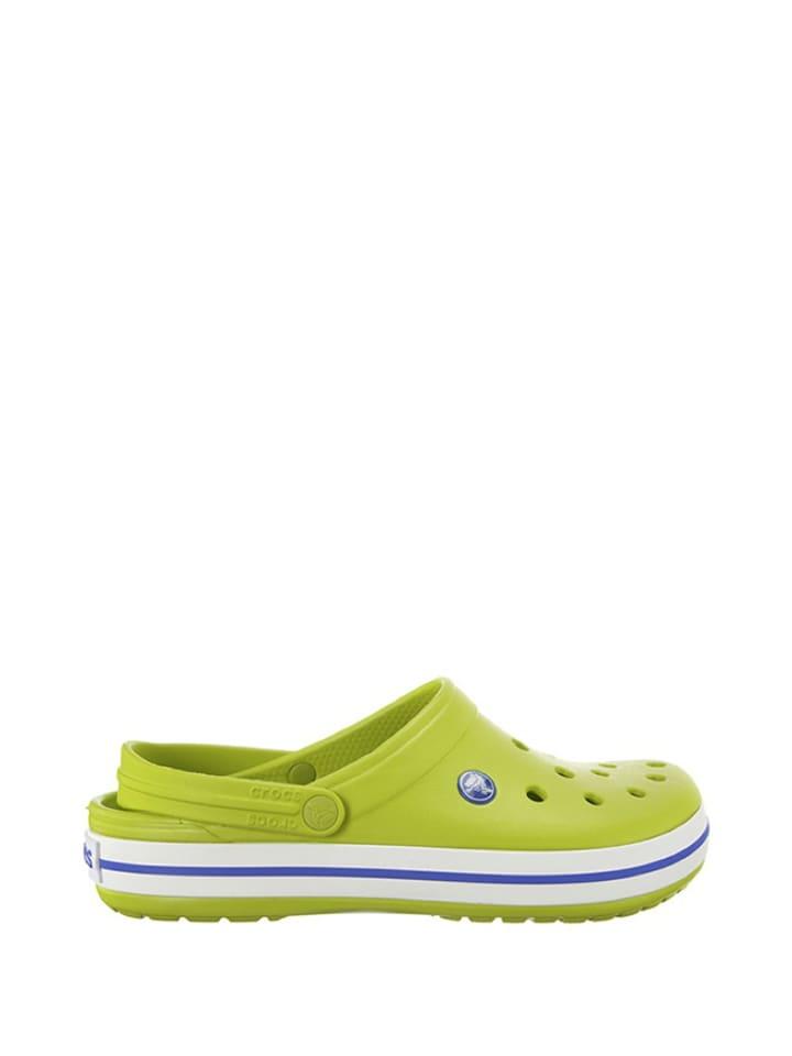 "Crocs Clogs ""Crocband"" in Grün/ Weiß"