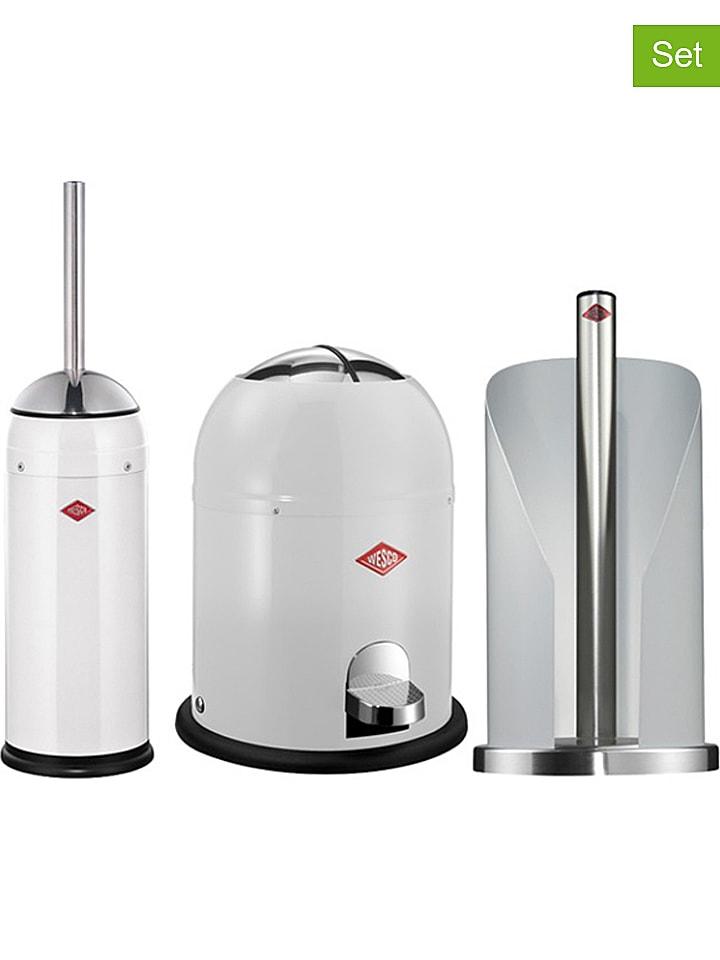 WESCO - Kit hygiénique pour salle de bain 3 pcs - blanc | Outlet limango