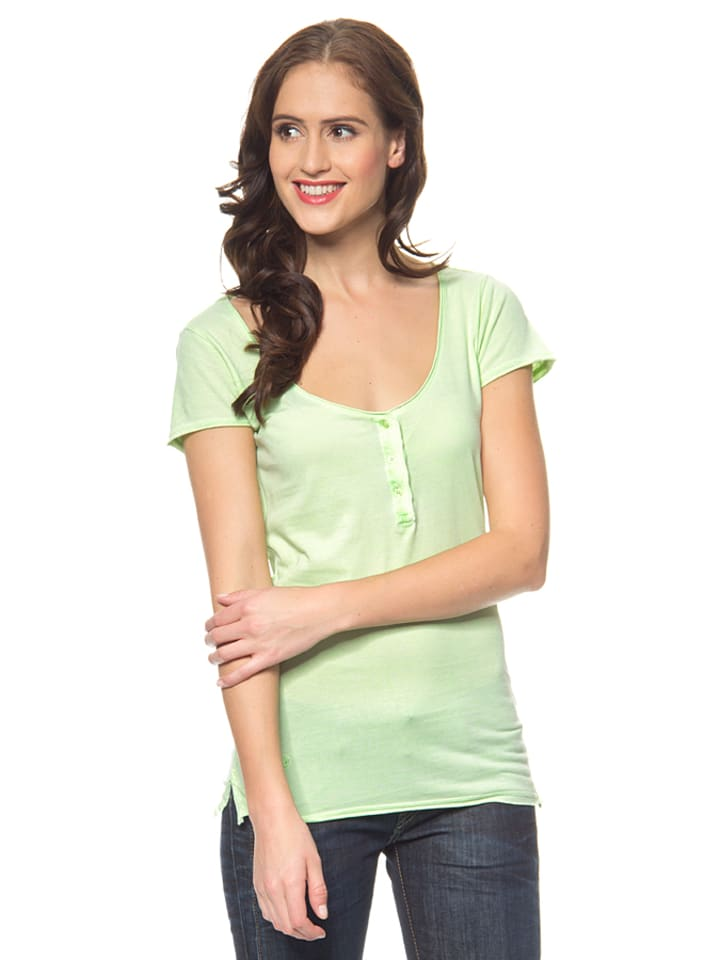 """Herrlicher Shirt """"Meryl"""" in Neongrün"""