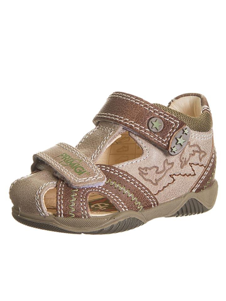 Primigi Leren sandalen beige/lichtbrin