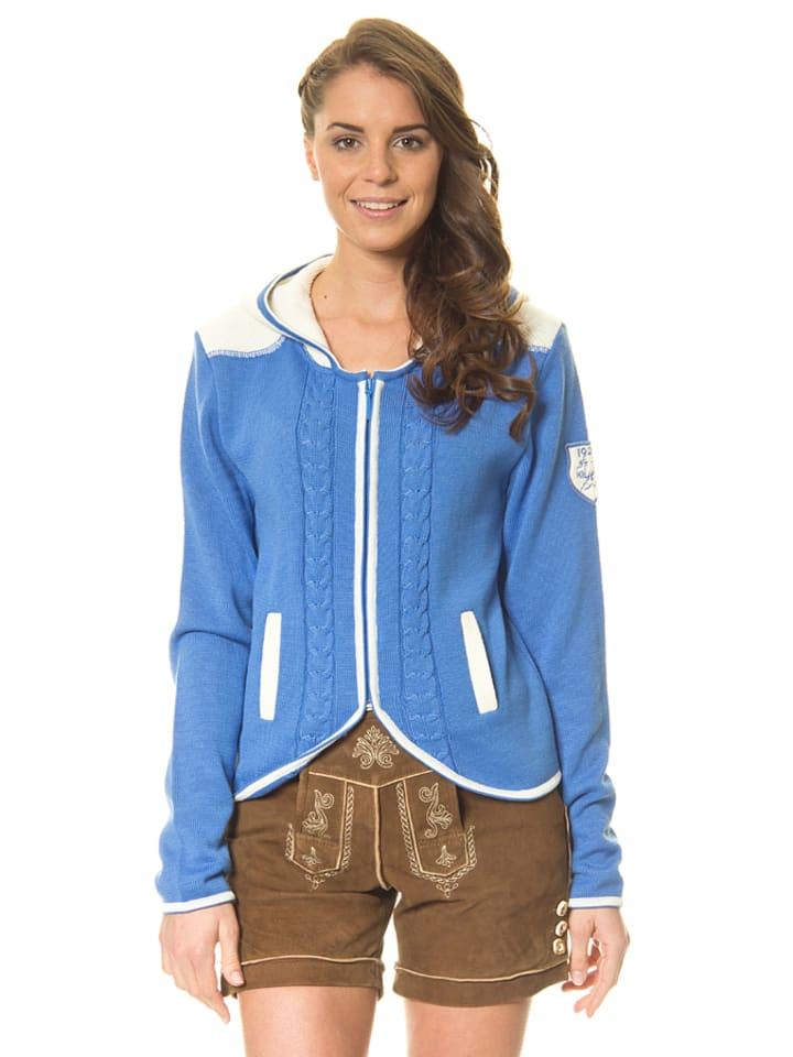 """Huber Mode & Tracht Gebreid vest """"Sara"""" blauw"""